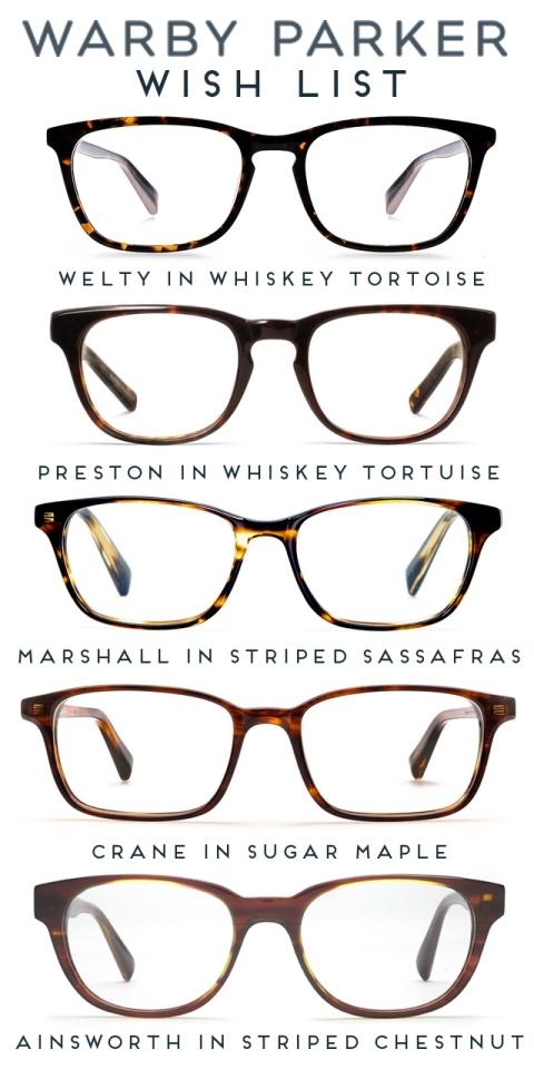 Warby Parker Wishlist